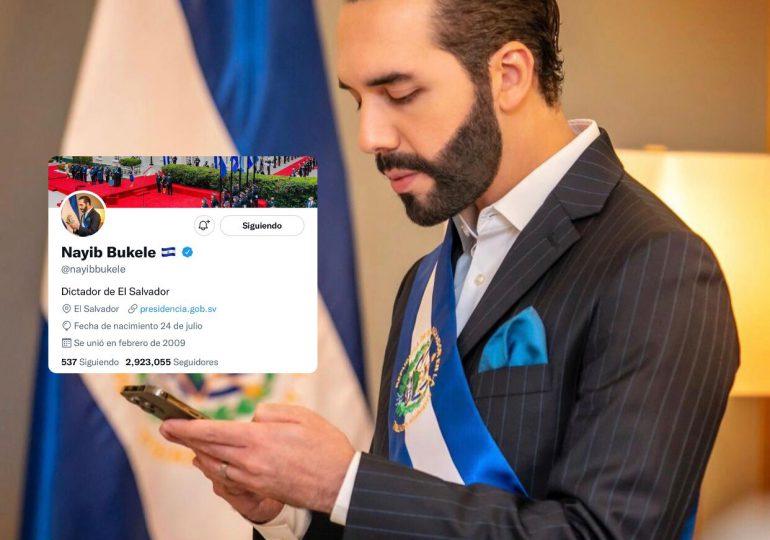 "Nayib Bukele se autonombra ""Dictador de El Salvador"" en su perfil de Twitter"