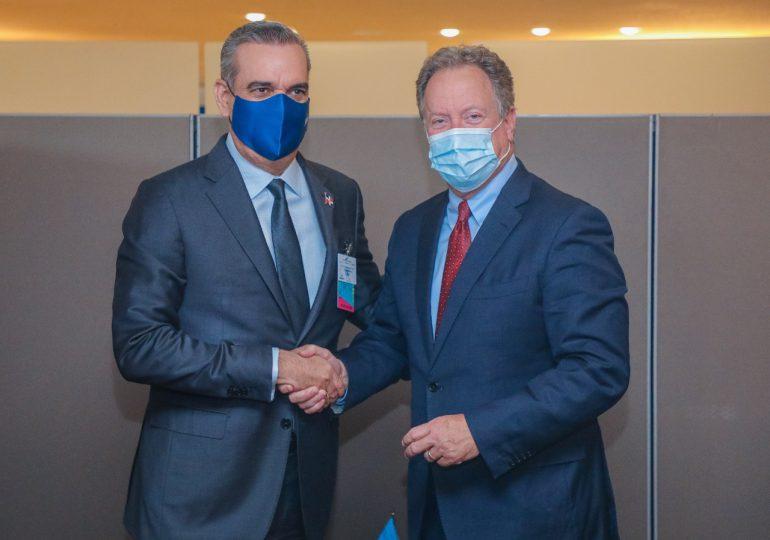 Abinader se reúne con  lideres internacionales, en el marco de su participación en la Asamblea de la ONU