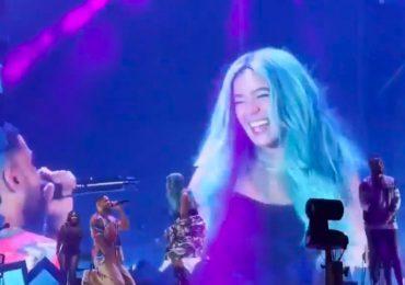 Karol G impacta en las redes al mostrar cómo fue a un concierto de Aventura