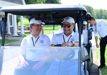 Leonel Fernández participa en tradicional torneo de Golf,  de la Fundación Funglode en EEUU