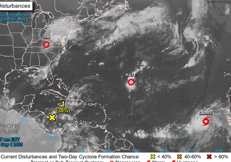 Tormenta tropical Larry será potencial huracán categoría 3 el jueves o viernes