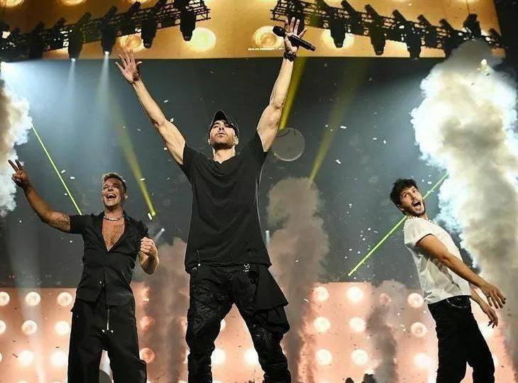 Ricky Martin y Enrique Iglesias presentan con éxito el primer show de su gira en Las Vegas junto a Sebastian Yatra