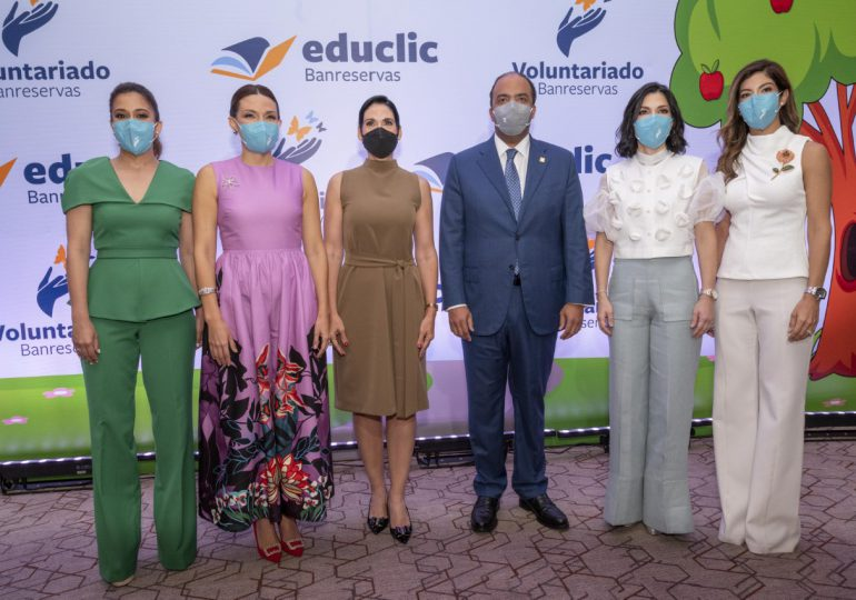 Voluntariado Banreservas presenta plataforma digital educativa, Educlic