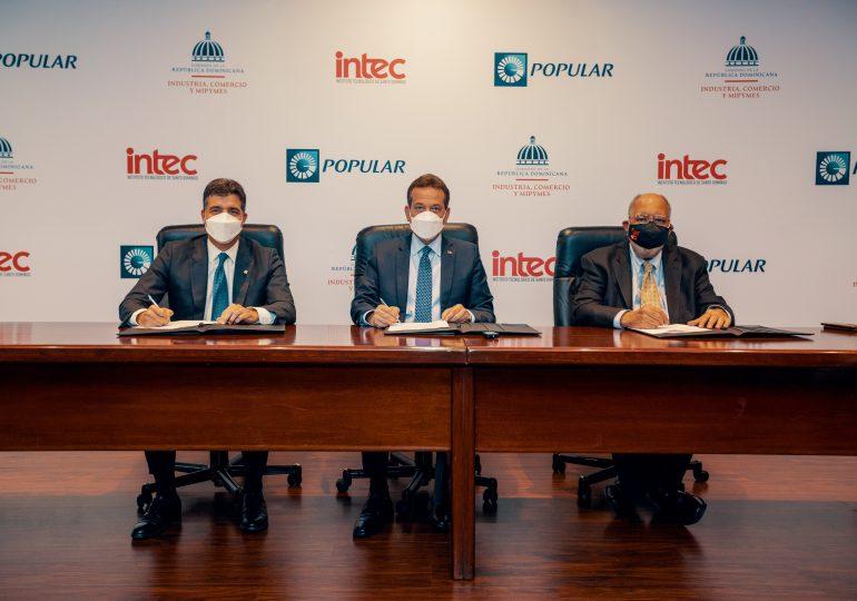 MICM, Banco Popular e INTEC unen fuerzas para potenciar industrias creativas