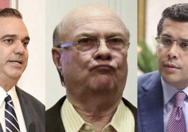 Luis Abinader, David Collado e Hipólito Mejía, líderes que más representan al PRM, según encuesta