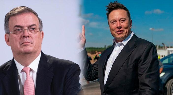 Canciller mexicano revela petición de Elon Musk durante una llamada telefónica