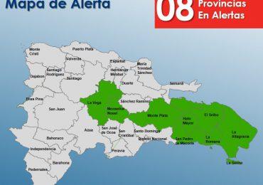 COE pone en alerta  verde ocho provincias por incidencia de vaguada y avance de onda tropical
