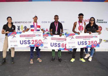 Conoce los ganadores de la cuarta edición del   maratón de la ciudad de Santo Domingo