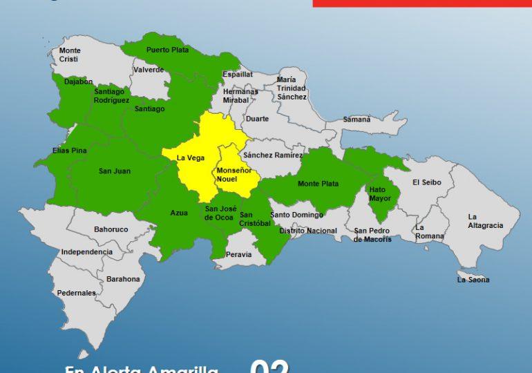 COE aumenta a 13 las provincias en alerta por vaguada