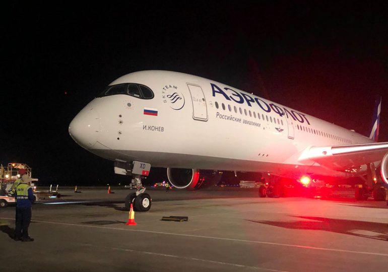 Aterriza en Punta Cana vuelo de Aeroflot que marca reinicio de rutas hacia RD