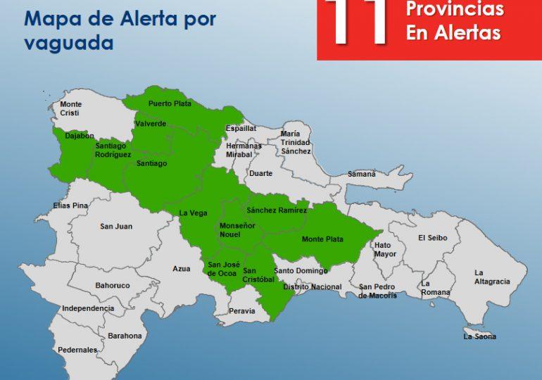 COE mantiene alerta verde en 11 provincias del país