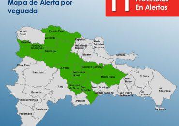 COE mantiene alerta verde para 11 provincias por incidencia de vaguada