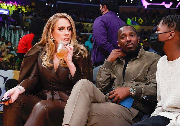Adele y Rich Paul asisten juntos al partido de baloncesto de Los Lakers y Golden State